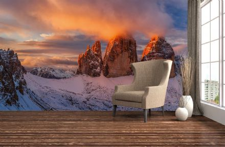 Photo wallpaper Mountain Peaks In Italy
